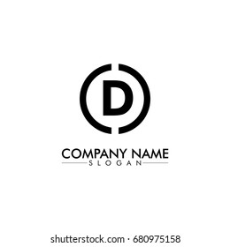 company logo vector of the letter D black color