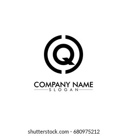 company logo vector of the letter Q black color