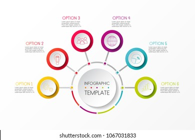 Company milestone - colourful timeline template. Vector.