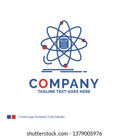 Company Name Logo Design For Analysis, data, information, research, science. Blue and red Brand Name Design with place for Tagline. Abstract Creative Logo template for Small and Large Business.