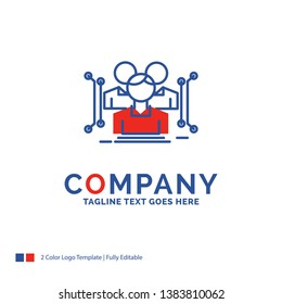 Company Name Logo Design For Anthropometry, body, data, human, public. Blue and red Brand Name Design with place for Tagline. Abstract Creative Logo template for Small and Large Business.