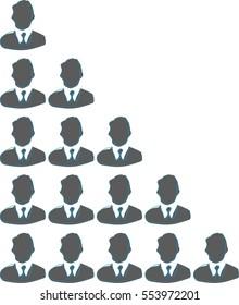 Company, organization, structure, business, icon, vector
