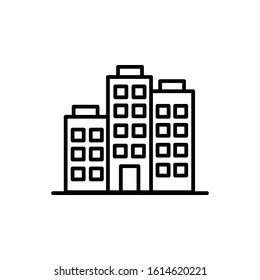 Company with outline icon vector illustration logo template for many purpose.Isolated on white background