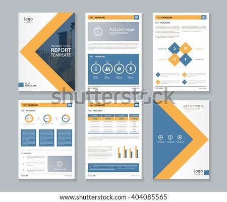company profile annual report brochure fl のベクター画像素材