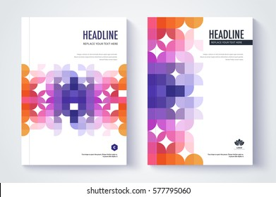 Company profile template. Cover design. Vector template background.