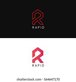 Company R letter logo icon sign vector design
