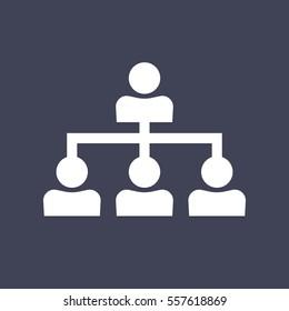 Company structure icon.