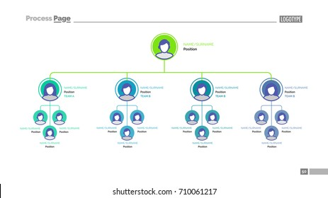 Company tree structure slide template