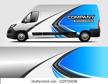 Company van Wrap Design. Ready print wrap and decal design.