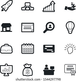 company vector icon set such as: building, seal, balloon, organizational, health, herb, accessory, boutique, leadership, audience, spaceship, mind, consultant, target, cartoon, magnifying