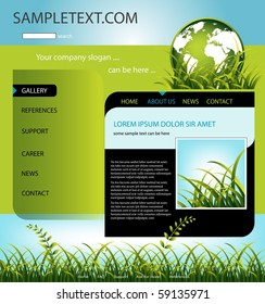 Company website template, vector