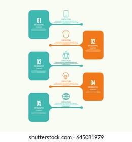 Comparative chart with banner for presentation, informative forms. Infographic option. Info chart Process step by step.