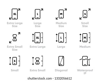 Compare phones, Smartphones Editable Stroke Thin Line Icons.