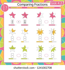 graphic regarding Comparing Fractions Game Printable known as Portion Photographs, Inventory Shots Vectors Shutterstock