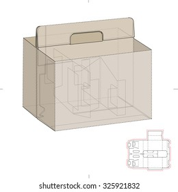 Compartmentalized Tray Box with Die Line Template