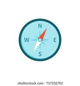 Compas icon flat