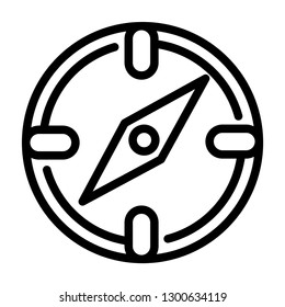 compas line icon