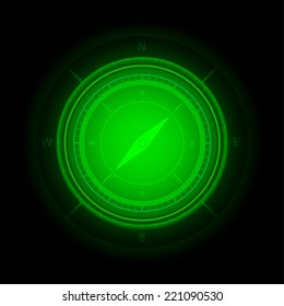 Compass, abstract technology background - Vector