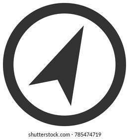 Compass arrow in circle. Vector icon.