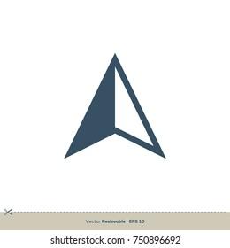 Compass Arrow Icon Vector Logo Template Illustration Design. Vector EPS 10.