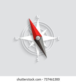 Compass arrow isolated 3d vector illustration. Navigation and direction icon. Compass direction and navigation for adventure and exploration illustration