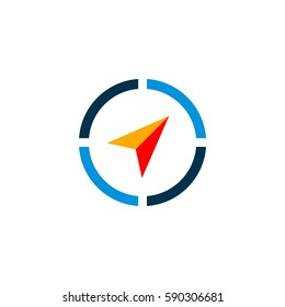 Compass Arrow vector Logo Template Illustration Design