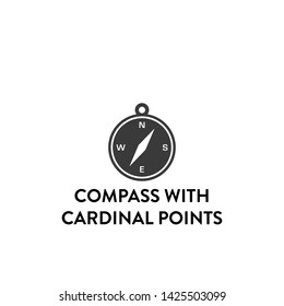 compass with cardinal points icon vector. compass with cardinal points vector graphic illustration