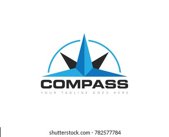 compass concept logo, icon, symbol, ilustration design template