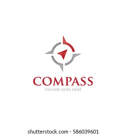 compass concept logo icon vector template