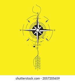 Compass Design in Vector art