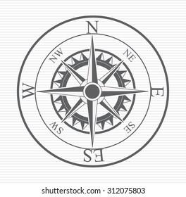 Compass digital design, vector illustration eps 10