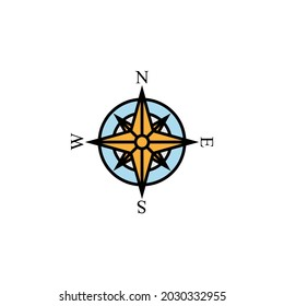 compass, direction, navigation line colored icon. Signs, symbols can be used for web, logo, mobile app, UI, UX