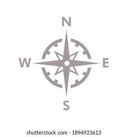 Compass directions vector illustration icon