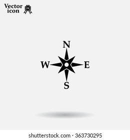Compass flat icon. Vector illustration EPS.