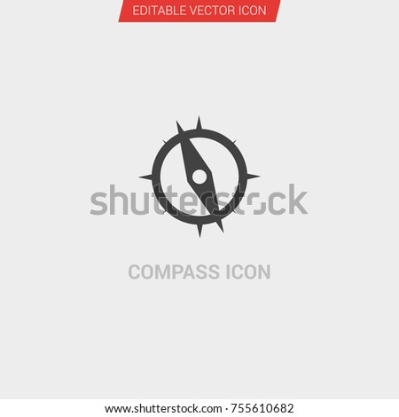 977e8e9e634e Compass Icon Dark Grey New Trendy Stock Vector (Royalty Free ...