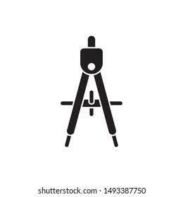 compass icon design flat vector