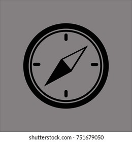 compass icon flat design