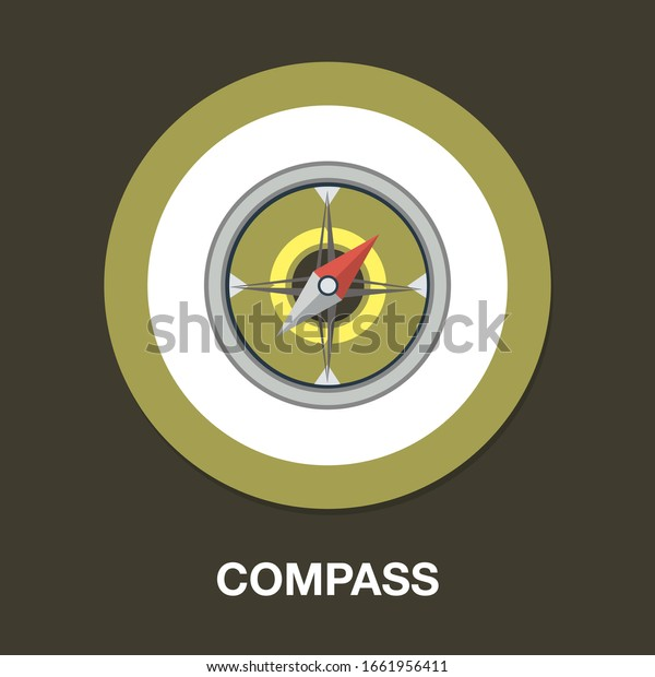 Compass icon. flat illustration of Compass. vector icon. Compass sign symbol