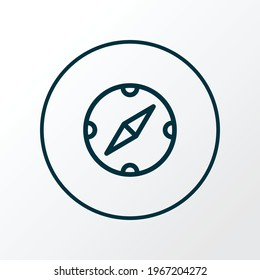 Compass icon line symbol. Premium quality isolated navigation element in trendy style.
