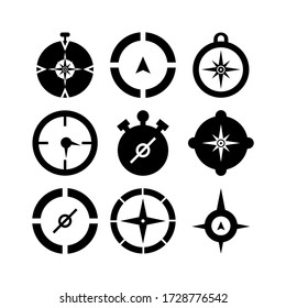 compass icon or logo isolated sign symbol vector illustration - Collection of high quality black style vector icons