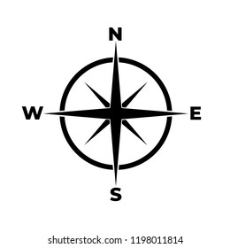 Compass icon, logo on white background