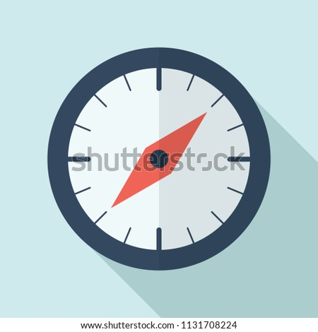 Compass Icon Map Compass Icon Stock Vector (Royalty Free) 1131708224