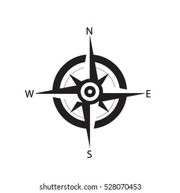 compass icon on white background. compass sign.