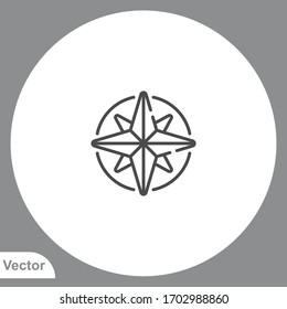 Compass icon sign vector,Symbol, logo illustration for web and mobile