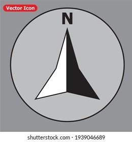 Compass Icon. Simple flat symbol. eps 10