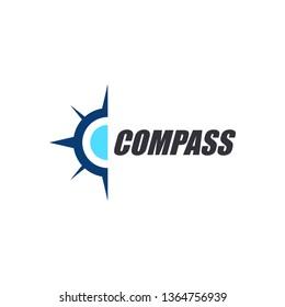 compass icon symbol logo template. outdoor adventure compass logo