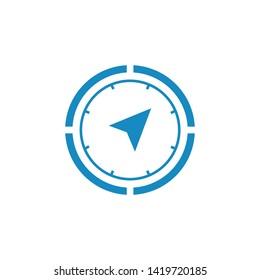 Compass icon, Compass symbol Vector