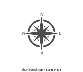 Compass icon Template vector icon illustration design