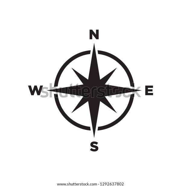 compass icon in trendy flat style