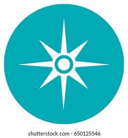 Compass Icon Vector.